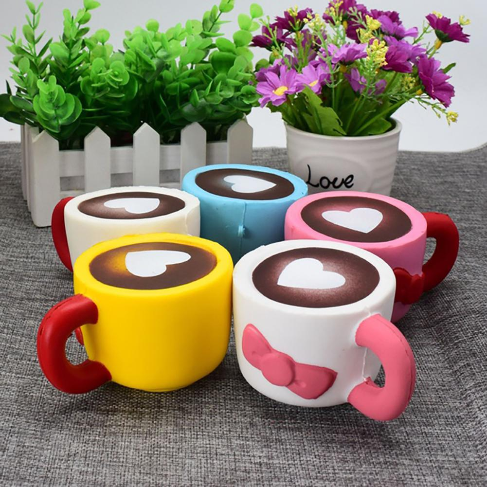 Antistress Elastic Environmentally PU Funny Gifts  Coffee Cup Stress Reliever Kids Adult Squeeze Toys Gift