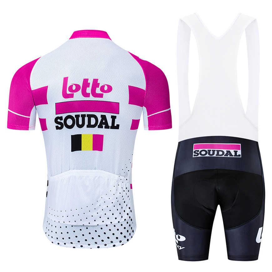 Pro team loto floresan yeşil döngüsü JUMBO 9D broek adam bisiklet giyim seti MTB bisiklet şort Ropa Ciclismo hombre Maillot