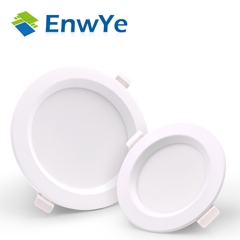 EnwYe 5W 7W 12W 18W LED Downlight Ceiling Light AC 220V Warm White / Cool White No Strobe Indoor LED Ceiling Light