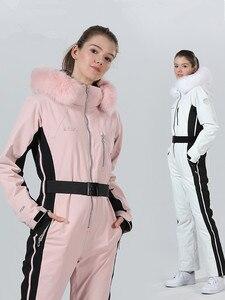 Image 5 - חורף סקי חליפת נשים חורף מעיל נשי מעיל סנובורד סקי ספורט חליפת סנובורד סקי סרבל חם