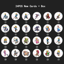 24pcs zelda Breath of the Wild amiibo card zelda Link Awakening NFC card ntag215 Tag Diablo Splatoon 2 Super Odyssey for amiibo
