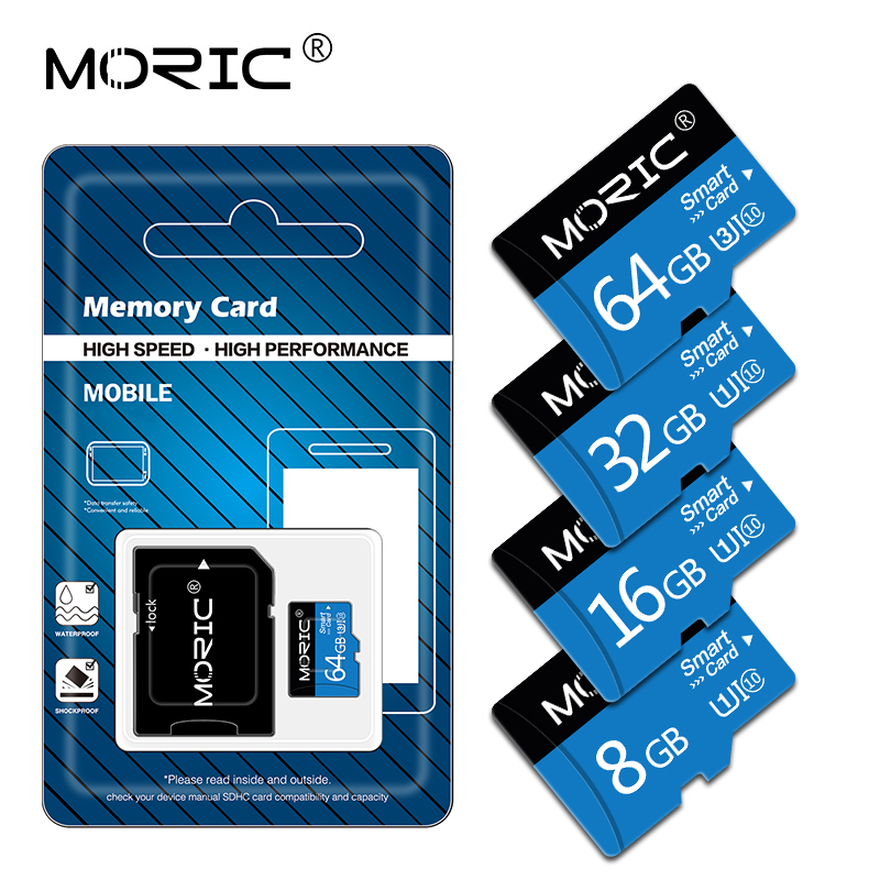 etc Large Capacity Class 10 TF Card Flash with TF Card Adapter High Speed SD Memory Card for Smartphone Micro SD Card Camera 16GB SD Card