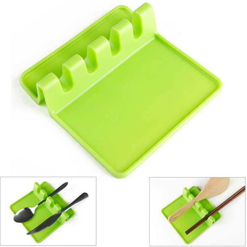 Kitchen Utensil Holder Silicone Spoon Spatula Rack Shelf Portable Multipurpose Stand JA55