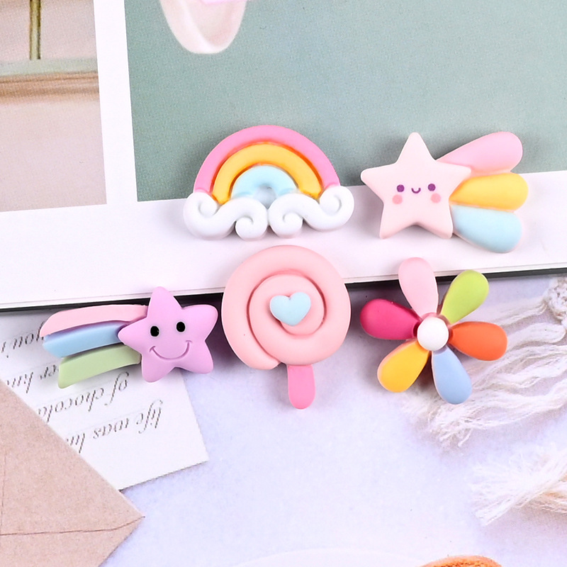 Stars, rainbow, candy magnetic refrigerator magnets, funny multi-color refrigerator magnets, cute blackboard stickers