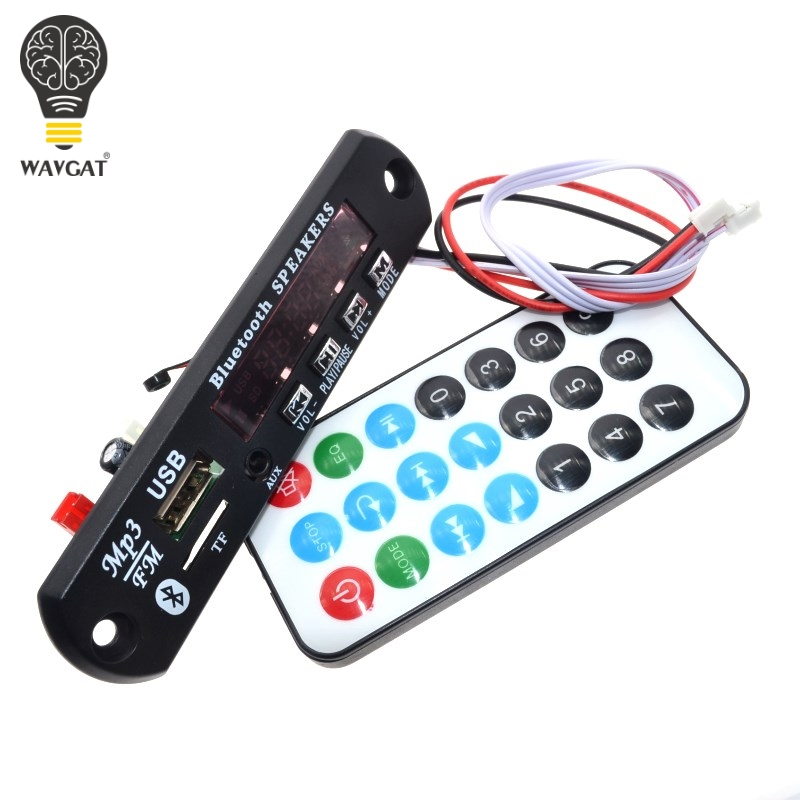WAVGAT Bluetooth MP3 Decoding Board Module W/ SD Card Slot / USB / FM / Remote Decoding Board Module WAVGAT