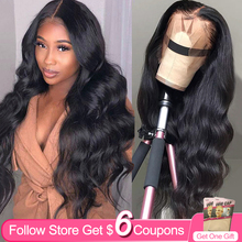 Body Wave 30 Inch 13x4 Lace Front Wigs Human Hair AIRCABIN Brazilian Remy Natural Color Glueless 4x4 Lace Closure Wigs For Women