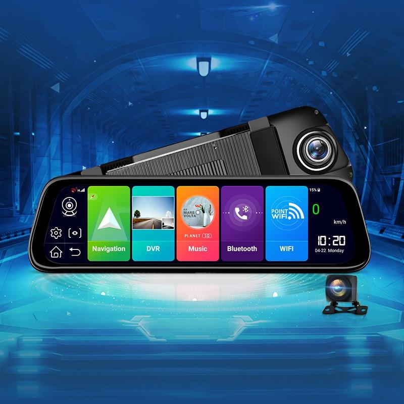 "AWESAFE Car DVR GPS Navigator Camera 4G ADAS 9.66"" Android 8.1 Stream Media Rear View Mirror FHD 1080P Mirror Dash Cam Recorder-in Car Mirror Video from Automobiles & Motorcycles    1"