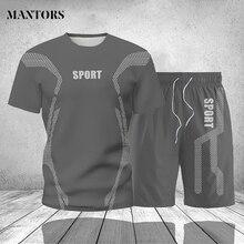 Men Tracksuits Sportswear T-Shirts Men's Tops Jogger 2piece-Set Male Casual Summer Short