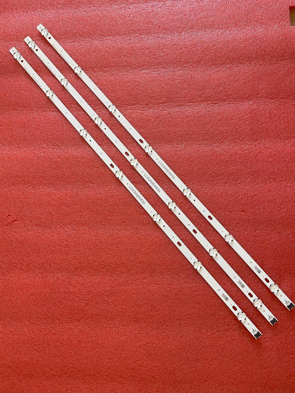 3 pçs led faixa de retroiluminação para lg «43« uj651v, 43uj634v, 43uj630v, 43uj561v, ltd, lc43490074a