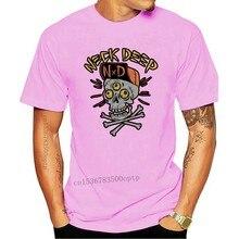 T-shirt «tête de mort» à manches courtes pour garçon, en coton, avec col rond, Neuf et officiel