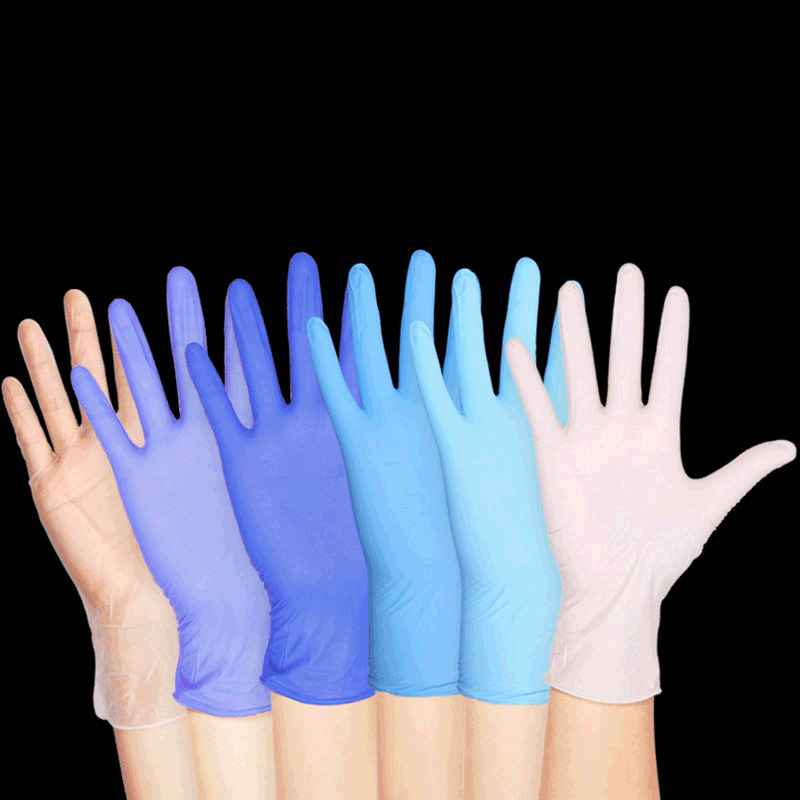 2019 Latest Design 20pcs Disposable Gloves Latex Rubber Cleaning Food Gloves Universal Home Garden Cleaning Gloves Household Cleaning Dark Blue Excellent Quality