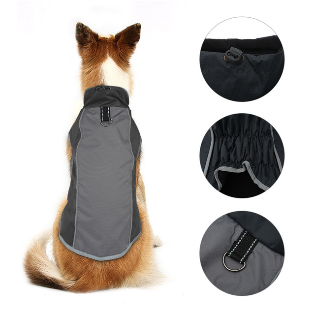 Reflective Waterproof Jacket Winter Warm Coat Vest Puppy Clothes for Small Medium Large Dogs
