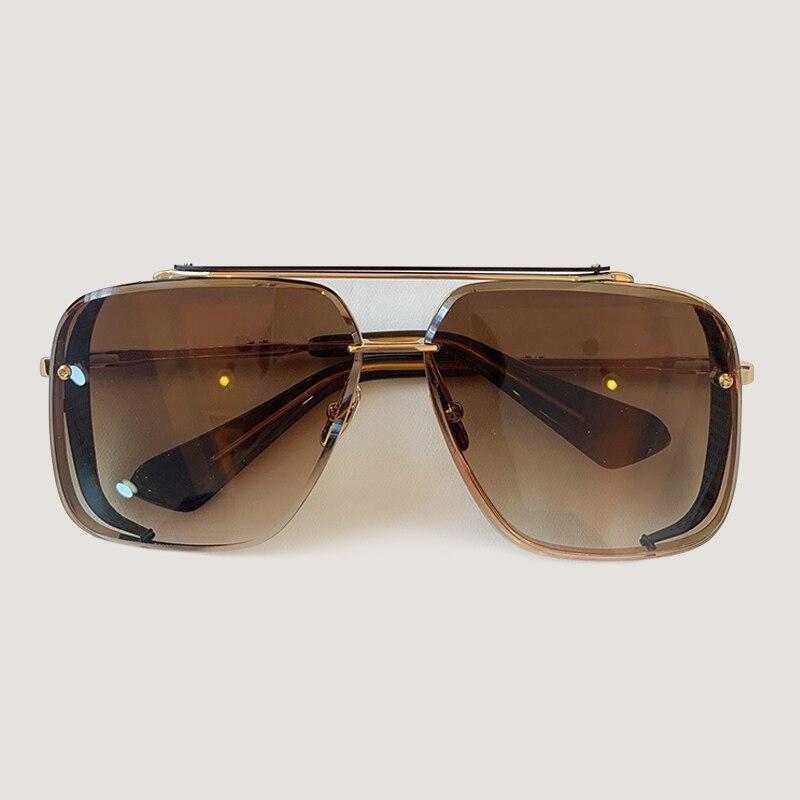 Мужские солнцезащитные очки модные квадратные солнцезащитные очки Oculos De Sol брендовые дизайнерские женские оттенки - 2