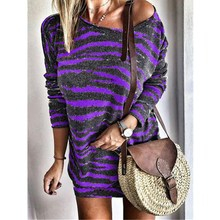 купить 2019 New Women Long Sleeve Loose Splicing Dress Female Fashion Casual Lady Mini Dress Turn-down Collar Shirt Women Short Dresses дешево