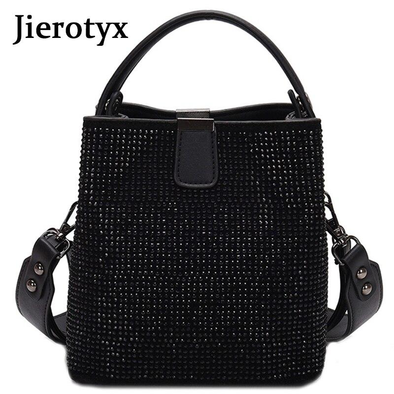 JIEEOTYX diamants femmes sac seau célèbre marque concepteur femme sacs à main qualité Pu cuir sacs à bandoulière dame petit bandoulière