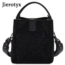 JIEEOTYX, женская сумка мешок с бриллиантами, дизайнерские женские сумки от известного бренда, качественные сумки через плечо из искусственной кожи, женские маленькие сумки через плечо