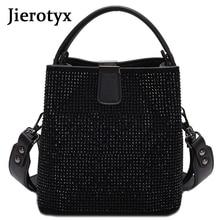 Jieeotyx diamantes mulheres balde saco famosa marca designer bolsas femininas qualidade couro do plutônio sacos de ombro senhora pequena crossbody