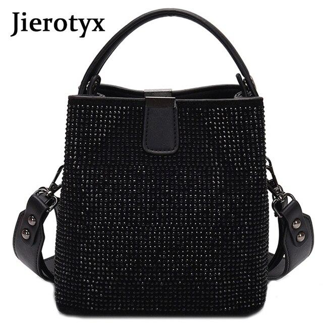 Jieotyx diamenty kobiety torebka wiadro znane marki projektant kobiece torebki jakości Pu skórzane torby na ramię pani mała torba typu crossbody