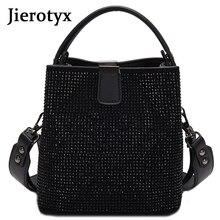 Jiieotyx sac à main en cuir Pu pour femmes, sac seau de qualité avec diamants, marque célèbre de styliste, petits sacs à bandoulière