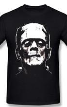 Frankenstein t camisa frankenstein t camisa impressão 6xl t camisa de manga curta divertido streetwear 100 algodão dos homens tshirt