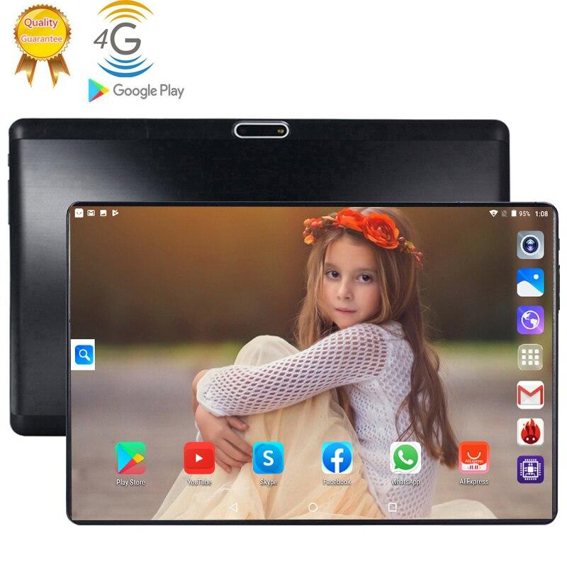 2020 10 pouces Android 9.0 4G LTE téléphone portable tablette 6GB RAM 128GB ROM 8 Octa Core 2.5D verre écran Wifi GPS tablettes ordinateur