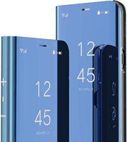 Custodia a specchio intelligente per iPhone 11 12 Pro Mini XR XS Max traslucido Clear View placca Cover antiurto per tutto il corpo