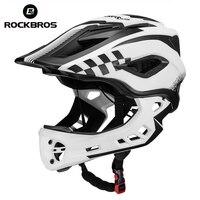 ROCKBROS Full Covered Child Helmet Balance Bike For Children Helmet Motorcycle Cycling Motocross Downhill MTV DH Safety Helmet
