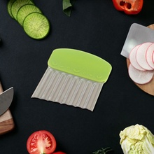1 шт. Овощечистка Нож с волнистыми краями резак для картофеля фри Овощной картофель чипсы для изготовления фруктов измельчитель овощей слайсер кухонный инструмент
