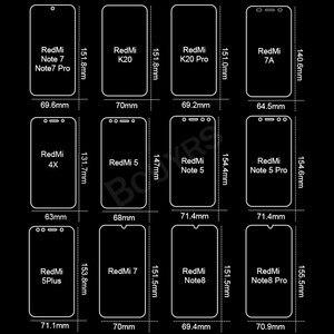 Image 2 - Protector de pantalla de vidrio templado 2 en 1 para Redmi Note 8 7 5 Pro, Protector de pantalla de vidrio templado para Redmi 7 7A K20 Pro 4X 5 Plus