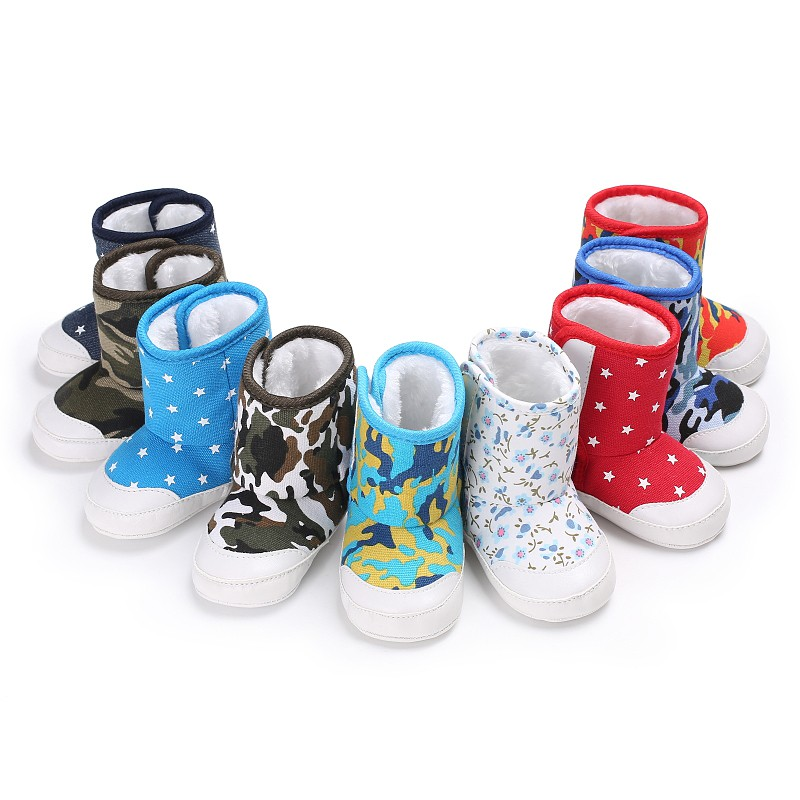 Winter Baby Boys Girls Shoes Winter Infants Warm Shoes Canvas Girls Baby Booties Leather/ Boy Baby Boots