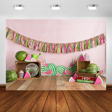 Watermelon Theme Photography Backdrop Newborn Baby Photo Background Child Birthday Decoration Supplies for Photo Booth Studio 60x84 inches flowers theme photography backdrops party background for wedding baby birthday decoration photo wall studio props