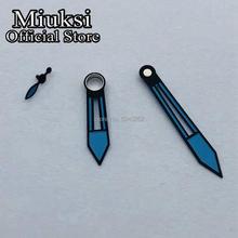 Miuksi blue watch hands fit ETA 6497 6498 or Seagull ST3600  ST3620 series movement