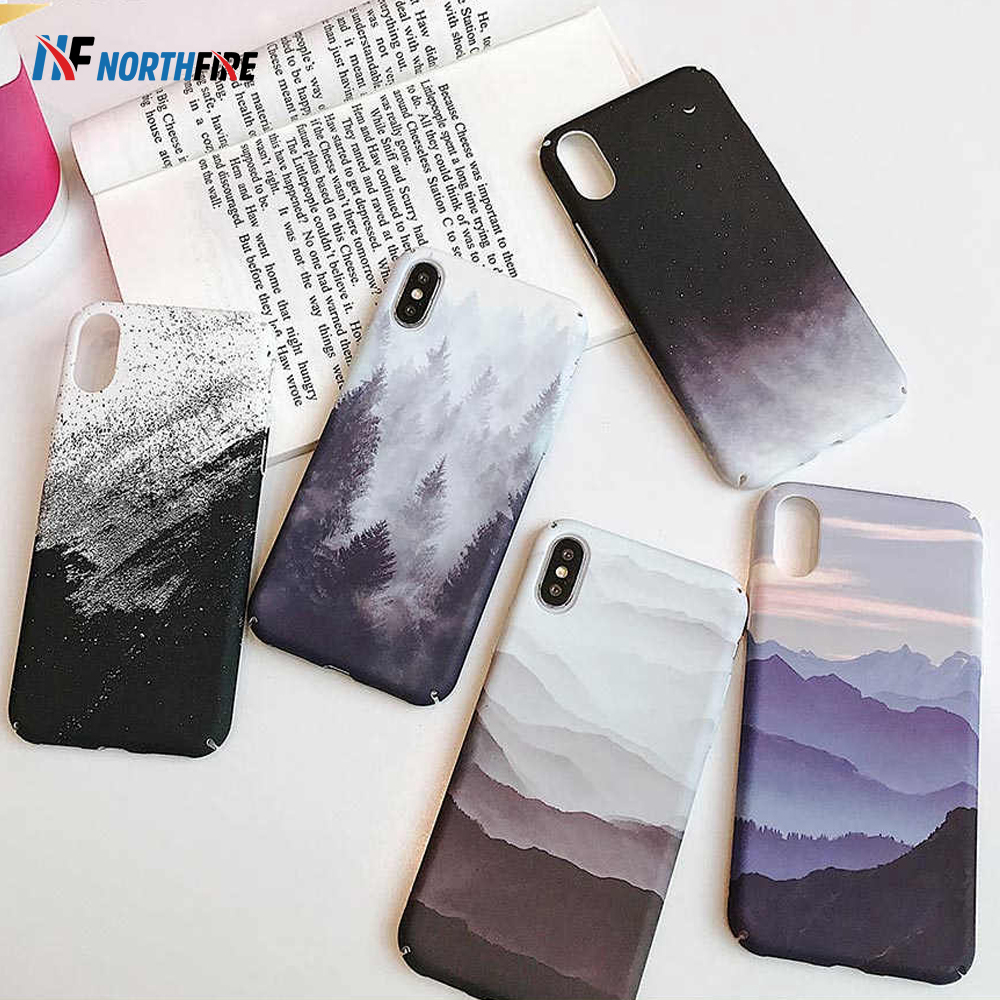 NORTHFIRE Landscape Matte Painted Phone Case For iPhone 11/11 Pro/11 Pro Max Cases Hard PC Fitted Back Cover Shell Coque Fundas