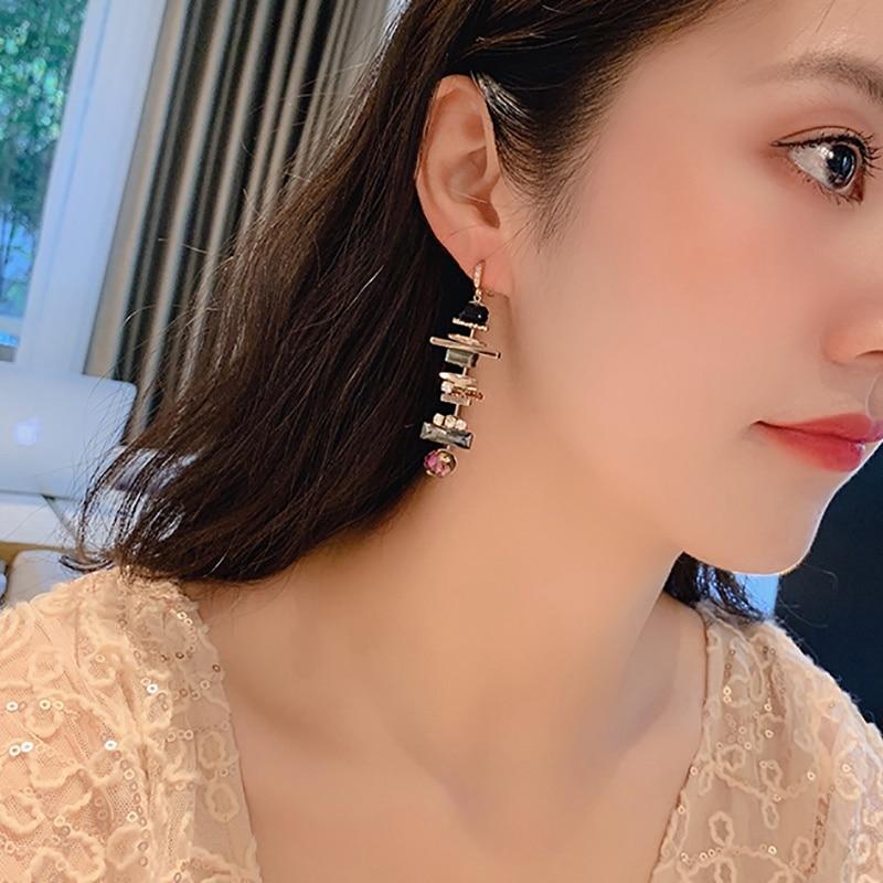Женские длинные серьги капельки mengjiqiao новые элегантные