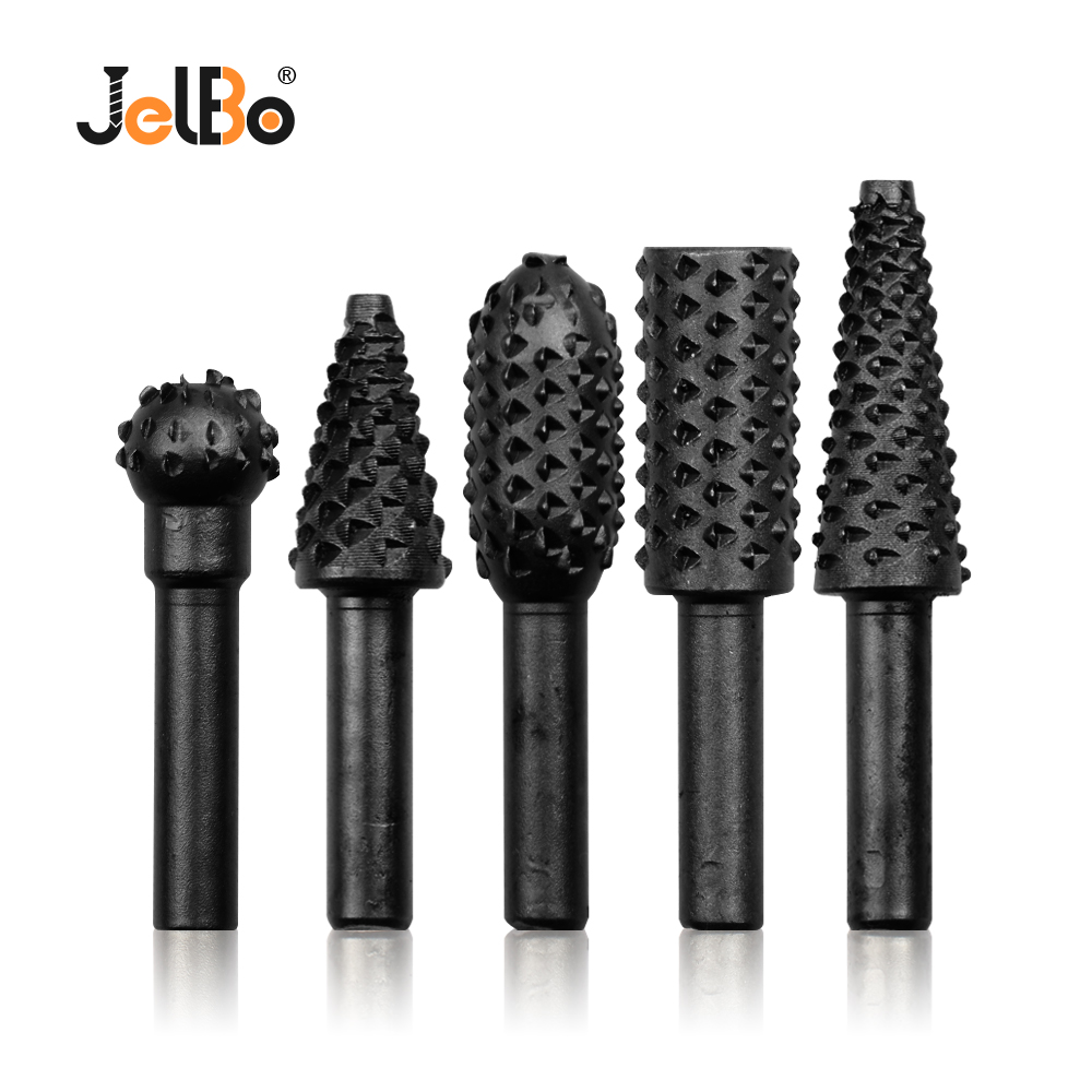 JelBo 5PCS 1/4''Carpentry Cutting Drill Bit Tool Kits Wood Carve Knife For Building/Engineering Woodworking Carving Hand Tool