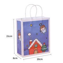 Śliczne torby na zakupy świąteczne torby na zakupy plastikowe torby z rączką świąteczne torby na upominek weselny torby do pakowania cukierków tanie tanio Christmas shopping bag cardboard 18*8*21cm as shown