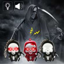 LED Death Keychain Light Convenient Backpack Keychain Halloween Decoration Cartoon Night Light