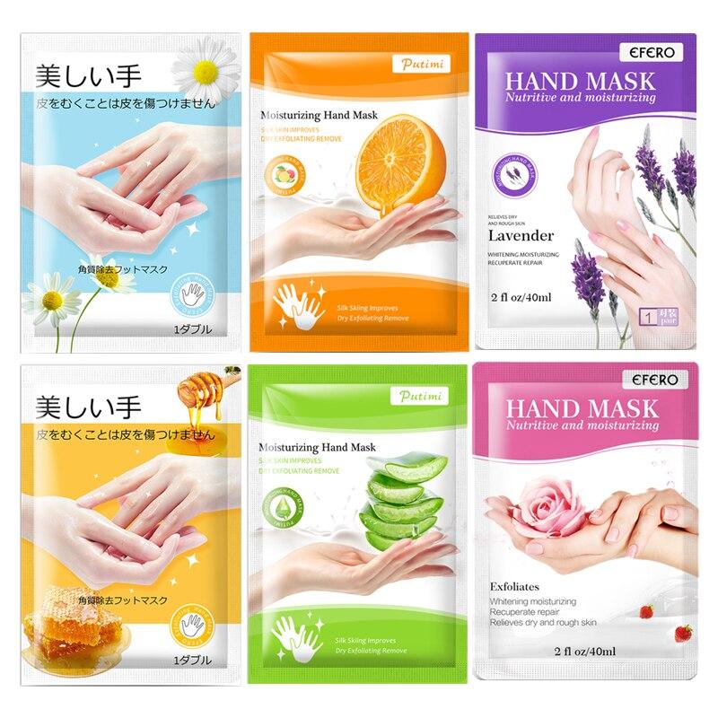 2Pairs Hand Mask Hand Gloves Moisturizing Hyaluronic Acid Whitening Honey Nourishing Anti Dry Rough Hand Skin Care Mask