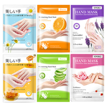 2Pairs Hand Mask Hand Gloves Moisturizing Hyaluronic Acid Whitening Honey Nourishing Anti Dry Rough Hand Skin Care Mask