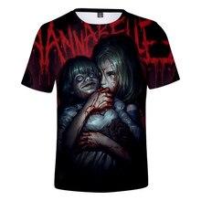 Annabelle korku T Shirt 3D Tee gömlek moda Hip Hop 3D baskı yaz erkek kadın rahat kısa yüksek kaliteli Tops o-boyun Polyester