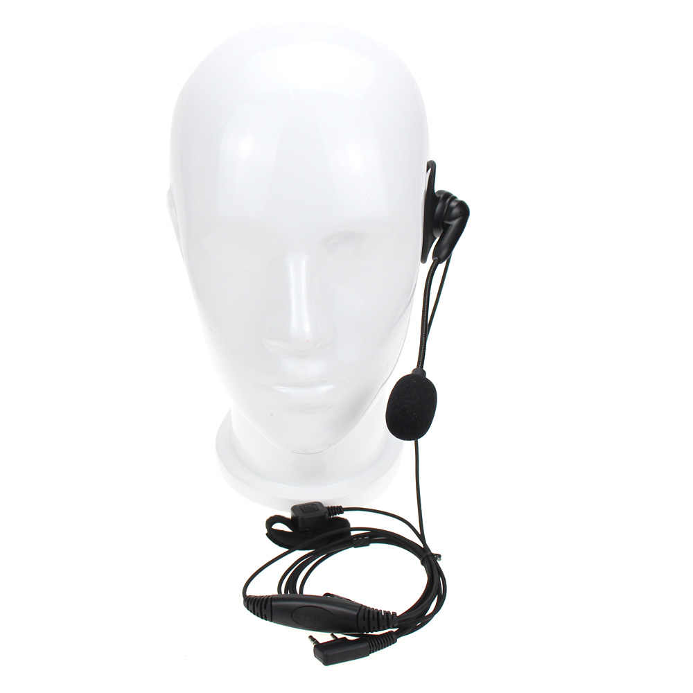Universel 2 broches K prise talkie-walkie casque casque PTT Microphone pour Baofeng UV-5R BF-888S Kenwood rechape Radio bidirectionnelle