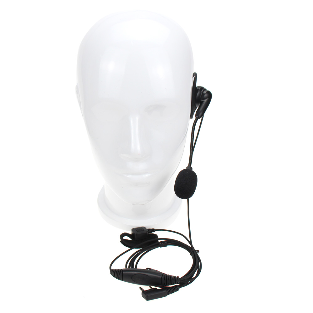 Universal 2 Pin K Plug Walkie Talkie Headphone Headset PTT Microphone For Baofeng UV-5R BF-888S Kenwood Retevis Two Way Radio