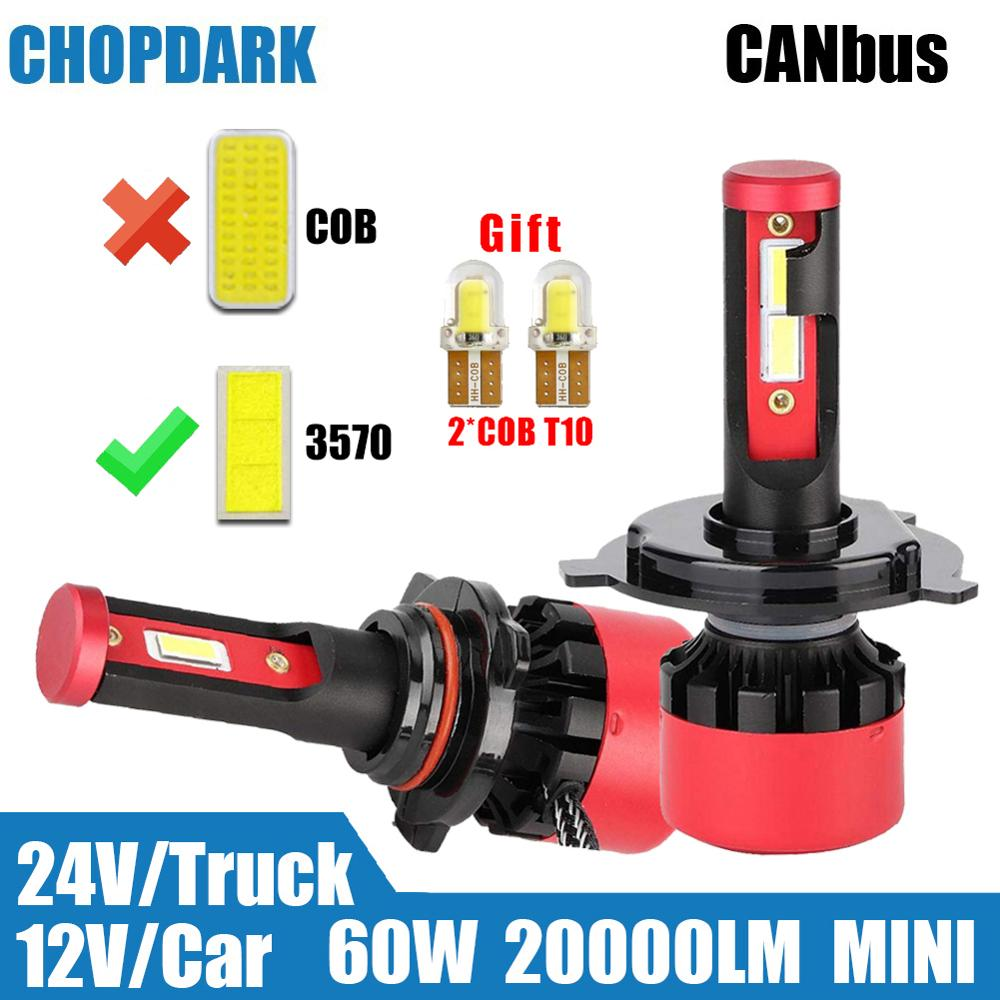 Car Truck <font><b>LED</b></font> Headlight Bulbs <font><b>CANBUS</b></font> 3570 20000LM H1 <font><b>H3</b></font> H11 H7 H4 9003 9005 HB3 9006 HB4 HB2 5202 H16 H27 881 9004 9007 9012 H13 image