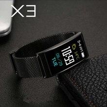 ZYKER Bluetooth Smart Bracelet X3 Women Bluetooth Blood Pressure Fitness Bracelet Band Heart Rate Monitor Waterproof Smartband