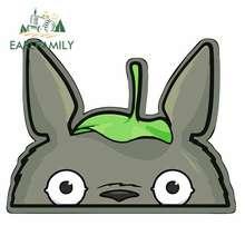EARLFAMILY-pegatinas de coche de Totoro, calcomanía creativa con personalidad, impermeable, de moda, para JDM, SUV, RV, 13cm x 10cm
