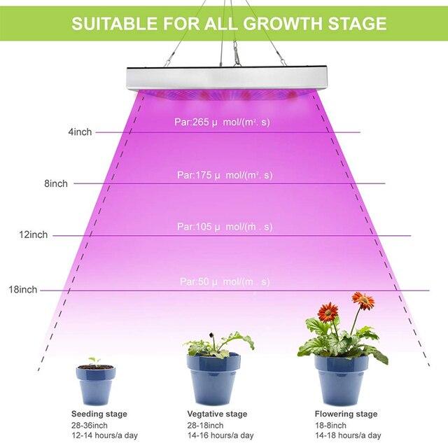 2pcs LED Grow Lights Full Spectrum Phyto Lamp For Plants 4
