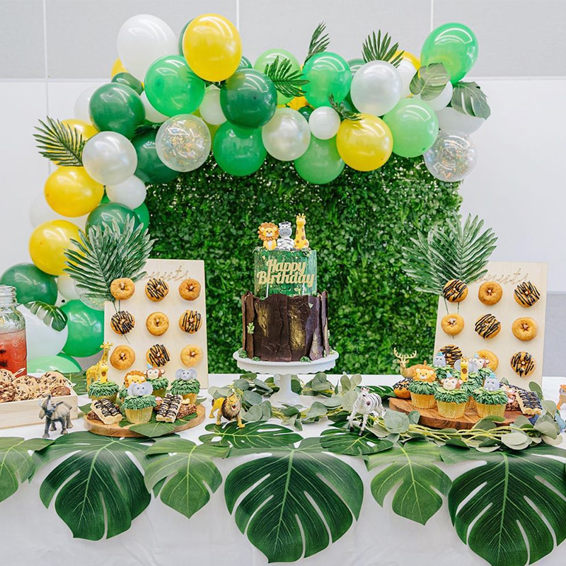 US $10.109 Jungle Party Decoration Donut Stand Safari Birthday Decoration  tableware Jungle Theme Party Safari Party Favors Baby ShowerParty DIY