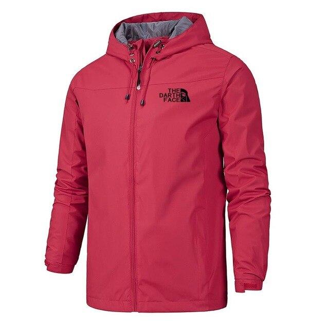 2020 Solid Color Fashion Male Coat Outdoor Sportswear Winter Jacket Men Lightweight Hooded Zipper Waterproof Coat Windproof Warm 4