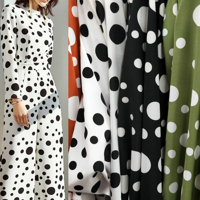 Dotted Chiffon Fabric Print Impervious Cloth Family Wear Dressing Shirt Trousers DIY Sewing Fabric
