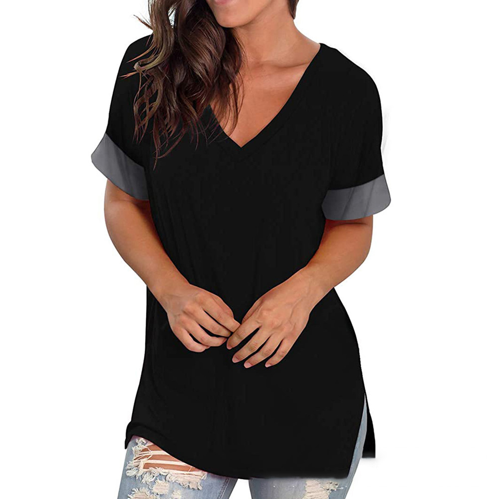 Green T Shirt Casual V-neck Plus Size 3XL Short Sleeve T-shirt Soft Ladies Summer Tops For Women 2021 Tshirts Camisetas Mujer